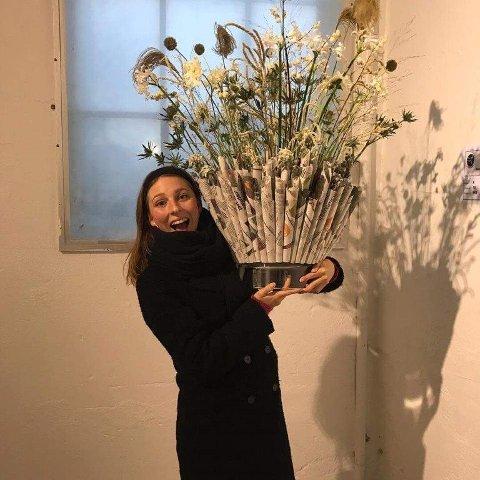 TOK 4. PLASS: Viktoria Grønn fra Ski blomster tok 4. plass i klasse A.