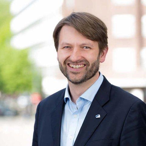 TRIKKETILHENGER: – Jeg er glad vi fikk en debatt om trikken og jeg er spesielt glad for resultatet, sierOsloHøyres byrådslederkandidat Eirik Lae Solberg.