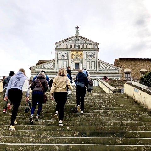 KLASSETUR: Klassen på Kunst, design og arkitektur-linjen på Ås VGS har de siste dagene vært på klassetur i Firenze.