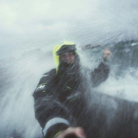Mats Grimsæth opplevde lite dramatikk underveis, bortsett under avslutningen på turen, men fikk merke elementene ute på sjøen.