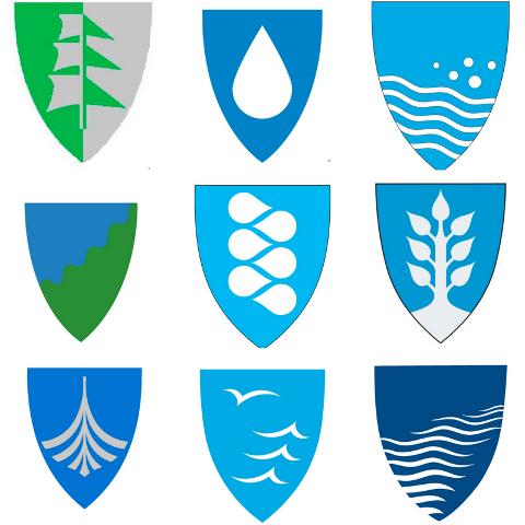 Ni finalister: Kun disse ni kan nå bli kommunvåpen i nye Larvik