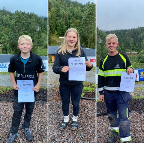 VANT HVER SIN KONKURRANSE: Fra venstre: Ola Kristian Wear, Annemarte Steinsholt og Martin Bergan.