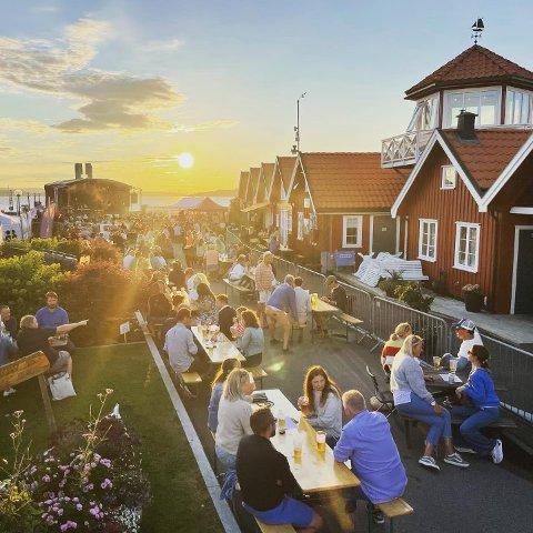 KONSERT: Mange samlet seg til god musikk og godt selskap på Bryggesleng i helgen.