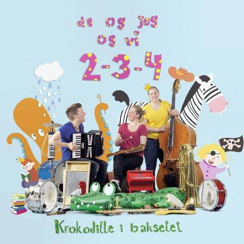 BARNEPLATE: Ellen Brekken slipper barneplata «Krokodille i baksetet» med trioen «Du og jeg og vi 2-3-4» fredag 13. oktober.