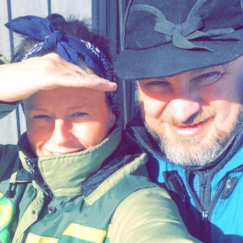 PAR: Monica Sand er Halvor Sveens kjæreste.
