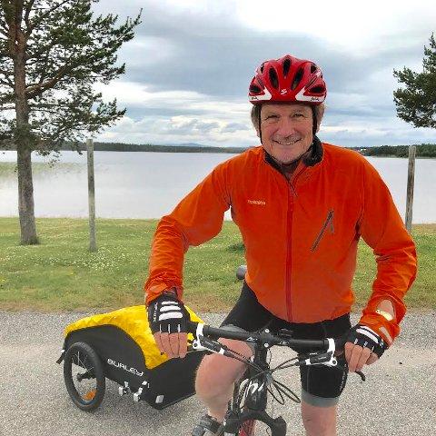 Rune Hagen på sykkel