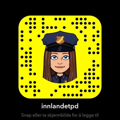Innlandet politidistrikt er også på Snapchat.