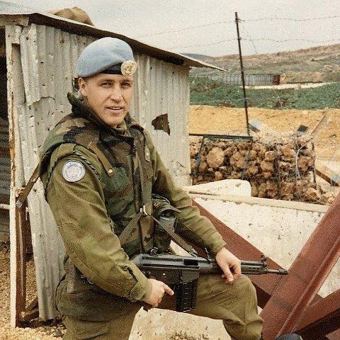 BEVARTE FREDEN: I tre omganger var Arne Rokseth i Libanon som fredsbevarende styrke.