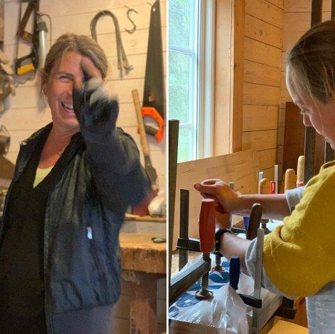 «ETTER SKOLETID»: Janne Lepperød og Mare Elise Bonsaksen håper så mange som mulig melder seg på samarbeidsprosjektet «Etter skoletid». Første prosjekt går ut på at barna skal lage sitt eget Longboard.