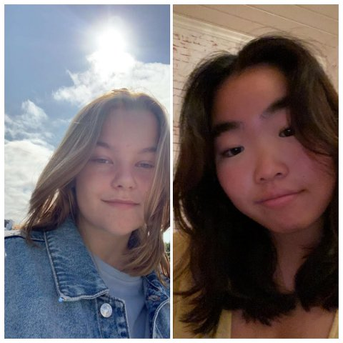 Tematur: Thea Lindbakk (16) og Frida Johansen (16) har skrevet om sine opplevelser fra tematuren til Utøya, Roseslottet og Akershus festning.