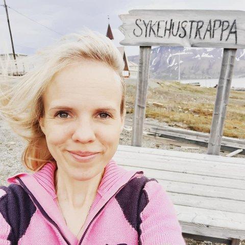 Line Therese Nilsen fra Bjerka er ikke redd for litt vær og vind. Her på Svalbard ved en tidligere anledning.
