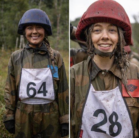 Ønsker å nå langt: Rikke-Mari Isaksen (26) og Lydia Torsvik Gieselmann (28) er klare til å kjempe mot andre og seg selv, for å nå langt i konkurransen.