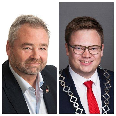 Hans Petter Emilsen, konstituert direktør for NAV Innlandet og Even Aleksander Hagen, fylkesordfører i Innlandet fylkeskommune.