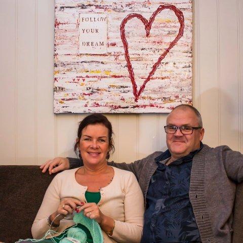 Fant veien: Ekteparet Anita Angelin og Bjørn Oset fra Jevnaker fant veien sammen med foto, filosofi og magiske farger.