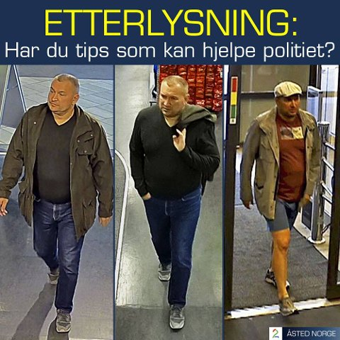 ETTERLYSES: Er dette samme mann? Åsted Norge gikk mandag kveld ut med en etterlysning av denne eller disse etter flere tyverier i Buskerud og Telemark. Elkjøp i Hønefoss er en av butikkene det ble stjålet fra.