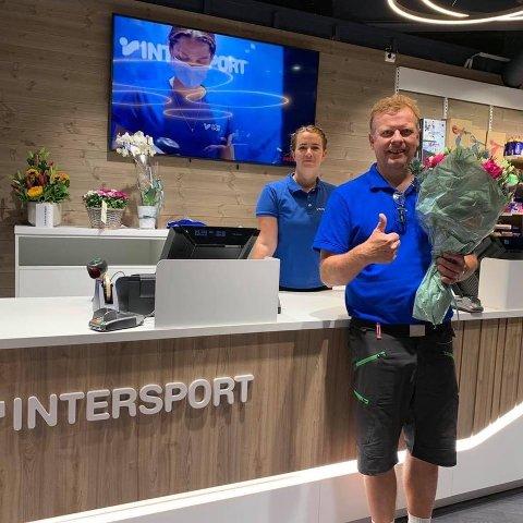 ETTERLENGTET ÅPNING: Kent Inge Mogum, sammen med Jan Rune Mogum, har lenge sett frem til åpningen av den nye Intersport-butikken på Brotorvet.