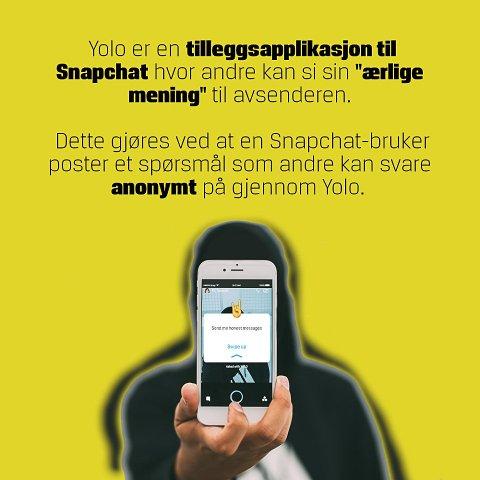 Ved at brukerne av appen kan sende anonyme meldinger til andre, opplever dessverre noen ungdommer å få tilsendt hets, trusler og andre grove meldinger. Foto: Politiets nettpatrulje