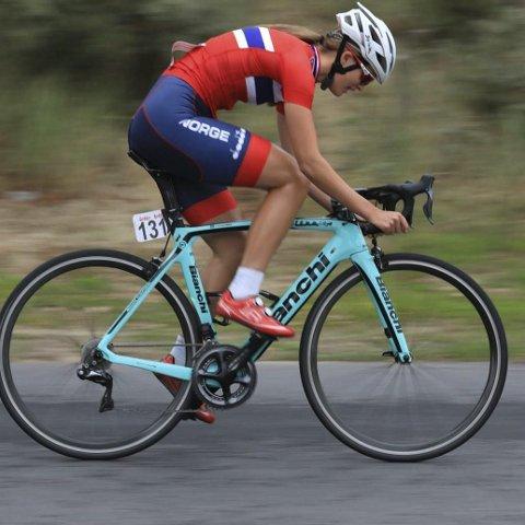 I BELGIA: Hedda Skogesal Samsing, syklet i Belgia i begynnelsen av september.