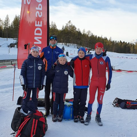 DELTOK FRA SSK: Hans Øyvind Sundve, Ole Conrad Burud, Kristiane Sundve, Luca Nilssen, Tobias Kalmo Thorbjørnsen.