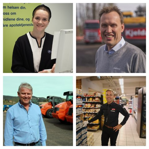 ALTERNATIVE LØSNINGER: Med klokka, fra øverst til venstre: Anette Lima Jacobsen (Boots Apotek), Thor Ambjørn Kjeldaas (Kjeldaas AS), Sten Egil Søberg (Meny), Rune Gulli (Wirtgen AS).