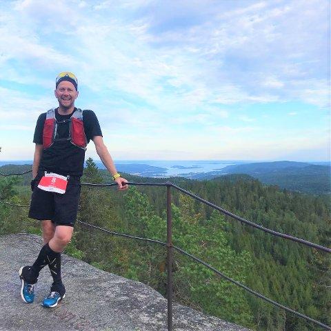Gjøran Lerskallen fra Sande gjorde det sterkt på ultraløp i Vestfold i helgen.