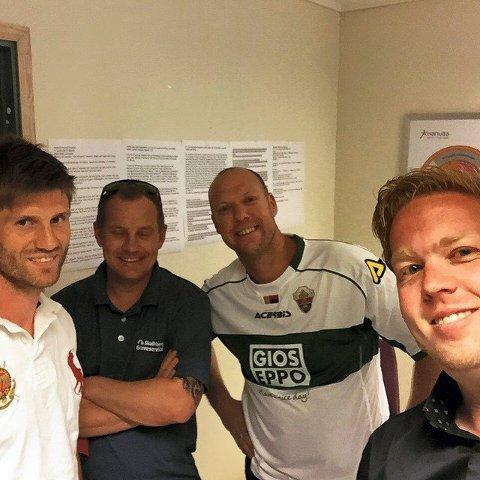 Erik Mjelde har vært på besøk hos Ken Skalleberg (t.h.), Leif Tore Markmann og Jørn Horntvedt når de lager «SF-podden».