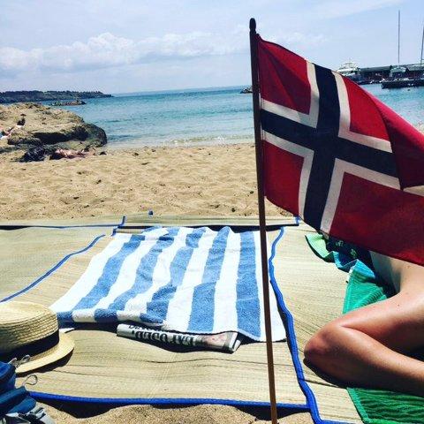 Patrioter på tur: Én gang nordmann, alltid nordmann. Foto: Kristin Bjørntvedt