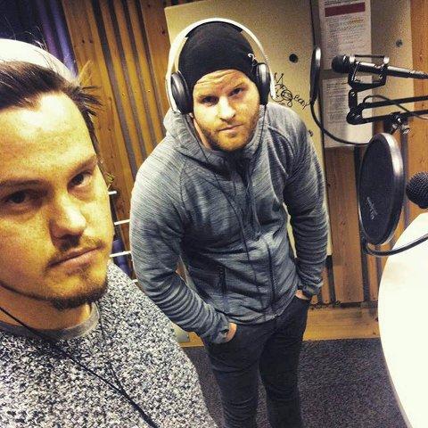 """Chris Baco hadde jobbet med """"Mittfjes"""" i over et år, brikkene falt endelig på plass da pop/rap-duoen Meludo fikk prøve seg på låten. f.v: Dag Røed og Robert Eliassen."""