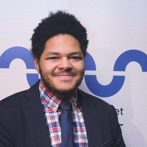 EN GLEDENS DAG: Studentleder, Michael Melbye, er svært glad for at de nå etablerer studentombud på HSN.