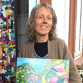 Multimediekunstner Lizz Daniels åpner stiller ut kunsten sin i Kongens Gate denne uken