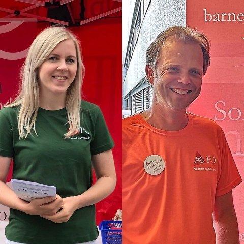 Fylkessekretær Vidar Byholt og hovedtillitsvalgt i FO Sandefjord Rose Heian. Vi vil samarbeide med kommunepolitikerne om å gjøre Sandefjord til en ennå bedre kommune og leve og jobbe i.