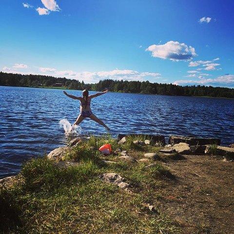 Klar for sommer: Nå er det bare å kaste seg ut i Lundebyvannet!