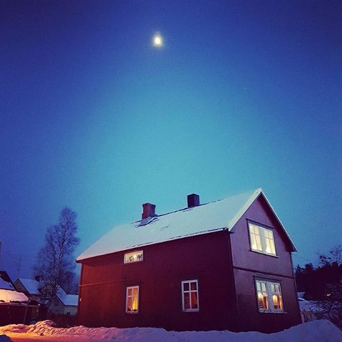 Kald kveld i Ørje - men tross alt går det mot vår.