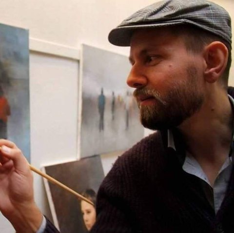 KOMMER: Lørdag kveld forteller Anders Ramberg om hvordan har har utdannet seg og etablert seg som kunstner.