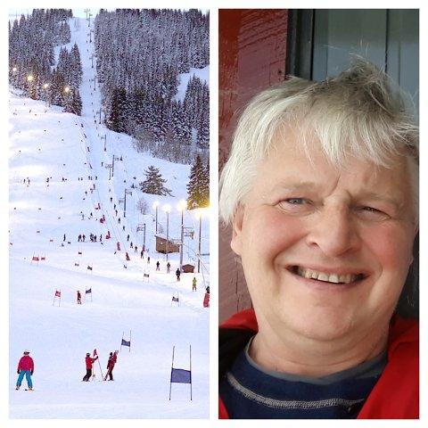 NY PÅ BREIE SKI? Ole- Hermann Meløy og Luster Turlag vil at flest mogleg skal koma seg ut. I samarbeid med Sogn skisenter leiger dei ut randonnee-ski med utstyr.