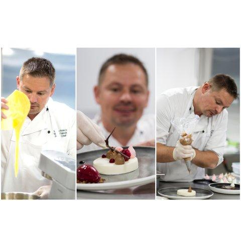 Marcel Vancik er konditor på Clarion Air-hotellet og elsker pene kaker.