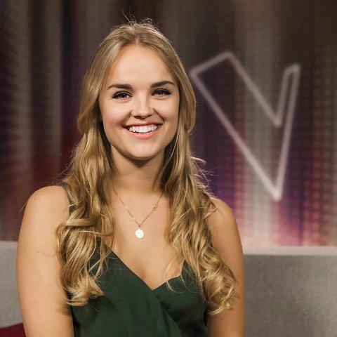 """MELDTE SEG PÅ: Lillen Stenberg (25) fra Skien er en av deltakerne i """"The Voice"""" på TV2."""