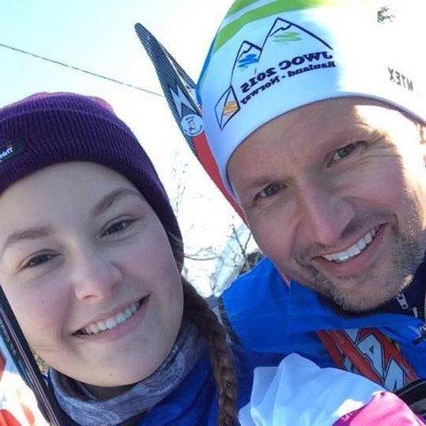 FAR OG DATTER: Terje Riis-Johansen og datteren Ida Riis-Johansen, får begge plass i Skien bystyre.