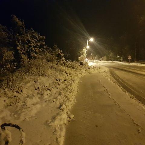 VÅKNET OPP TIL DETTE: Natt til tirsdag har den første snøen lagt seg. Foto: TA-tipser