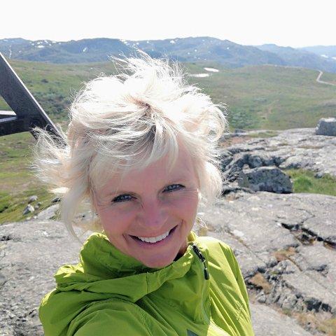 TURLEDER: Merethe Falkum Lien fra Skien tar med seg vennegjenger og bedrifter til Gaustatoppen i sommer.