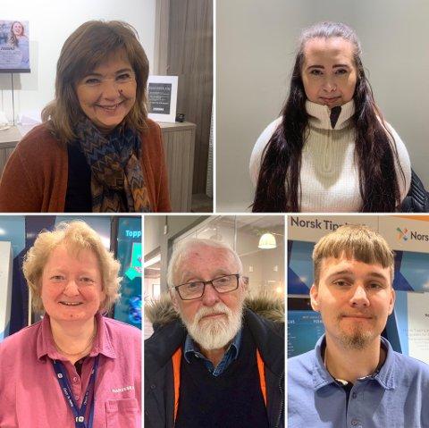 FEM-PÅ-GATA: Øverst fra venstre: Reidun Hagen,Yvonne Johansen. Nederst fra venstre: Anny Nes, Paul Steen,   Øystein Hegnastykket