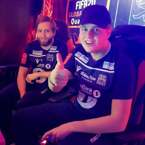 Sindre Ohrstrand og Magnus Hendseth bet godt fra seg i Eserien, men måtte se seg slått i kvartfinalen mot Raufoss.