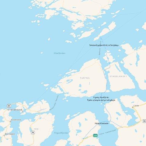 Viser vei muligheter fra fra Smøla og med tilkobling til E39.
