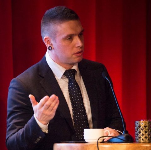 Kenneth Arctander under RIO-debatten om avkriminalisering i 2018.