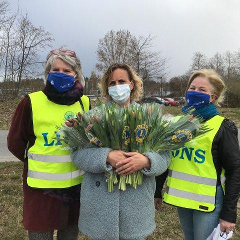 Randi Mølbach (tv.), LC Sem, Martine Seth, leder Stella og Castor og Torill Lindgård, LC Sem