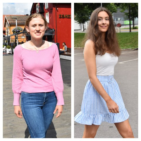 FORTVILER: Julie Svensen (t.v.) og Andrea Oscarsen mener det ville vært lite rettferdig om de må gjennomføre eksamen neste vår.