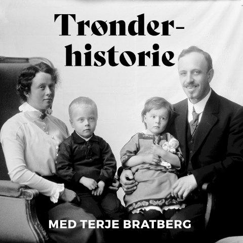 Avbildet med familie er rørleggermester K. Lund jr. som tok over farens rørleggerfirma i 1903.Denne familien får vi så klart også høre mye mer om i ukas episode Trønderhistorie.