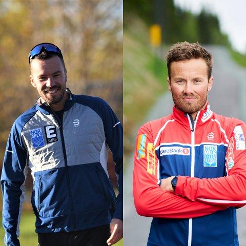 GLAD: Kretslagstrener, Mats Iversen (t.v.), er veldig glad for å ha hatt fått storebror, Emil, inn på sponsorsiden.