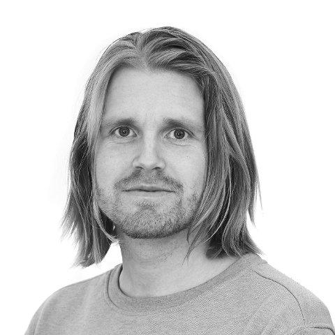 FERDIG SNAKKA: Sportsjournalist Eirik Evensen i Trønder-Avisa