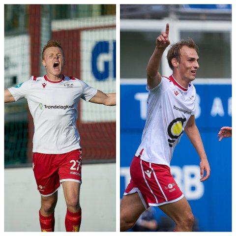 I FORM: Andreas Gundersen (t.v) og Arne Gunnes er brennhete om dagen.